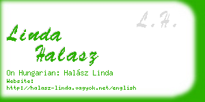 linda halasz business card